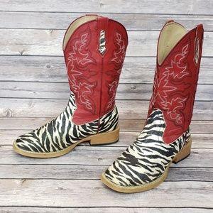 Women's Roper Glitter Sq. Toe Western Boots